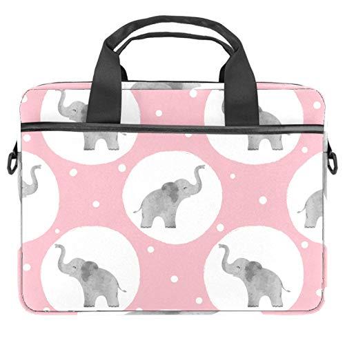 Elephant Wallpaper Laptoptasche, 33,4 - 35,6 cm (13,4 - 14 Zoll), multifunktionale Laptoptasche, tragbare Hülle, Aktentasche, verstellbarer Schultergurt