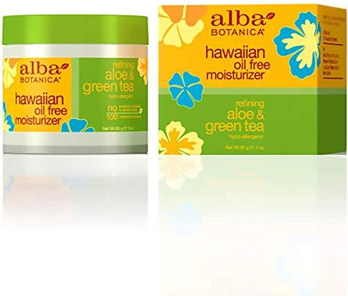 Alba Botanica Hawaiian Oil-Free Moisturizer, Aloe & Green Tea, 3 Fl Oz