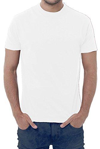 Fermento Italia Maglietta T-Shirt Uomo - 100% Cotone - 150 Grammi - JHK MOD. TSRA 150 (48-50 XL EU Uomo, Bianco)