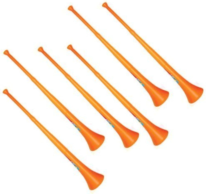 muchas sorpresas Vuvuzela - South African Style Style Style Collapsible Stadium Horn naranja (Pack of 6) by Vuvuzela  punto de venta de la marca