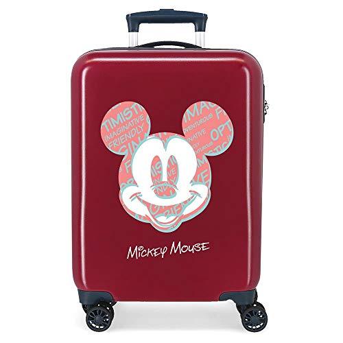 Disney Always Be Kind Maleta de Cabina Rojo 38x55x20 cms Rígida ABS Cierre de combinación Lateral 34L 2,66 kgs 4 Ruedas Dobles Equipaje de Mano