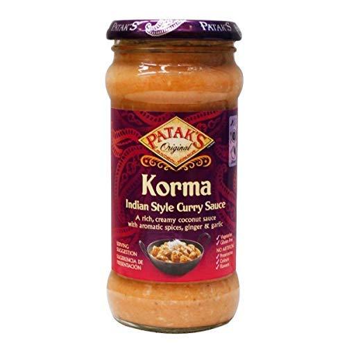 Salsa Korma indian style curry sauce frasco 350 g