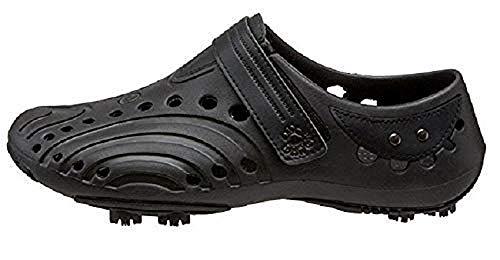 Dawgs Golfschuhe Herren - Gr. 42 - schwarz - weiches und haltbares Eva-Material - herausnehmbare Schaumeinlegesohle - geformte Fußgewölbestütze - dick gepolsterte Ferse