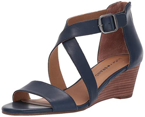Lucky Brand Women's JENLEY Wedge Sandal, Indigo, 6.5 M US -  LK-JENLEY-401-6.5 M US