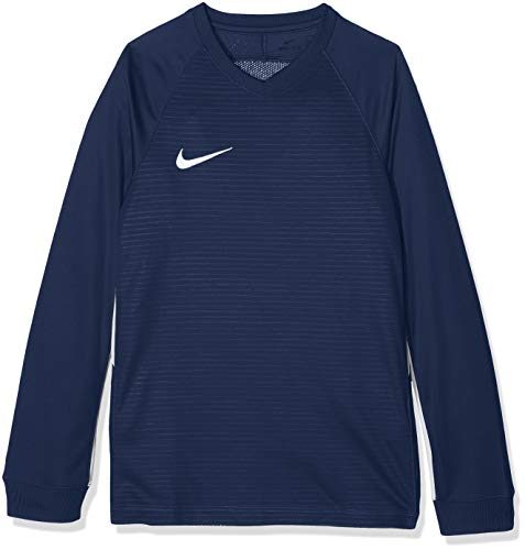 Nike Kinder Tiempo Premier Football Jersey Long Sleeved T-shirt, Blau (Royal Blue/White 411), XL