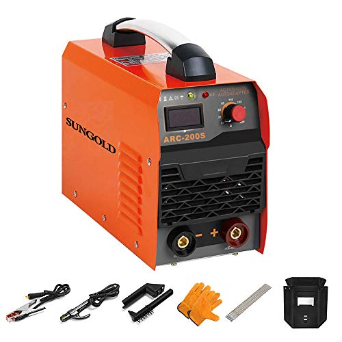SUNGOLDPOWER ARC MMA 200A Welder Dual 110V 220V IGBT Hot Start Welding Machine DC Inverter Welder 200 AMP LCD Anti-Stick