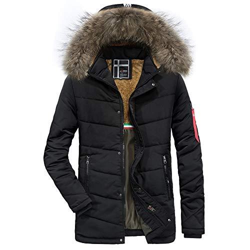 Luckycat Männer Wintermode Kaschmir verdickt Taschen Baumwollmantel Outwear atmungsaktiv Mantel Winterjacke Steppjacke Daunenjacke Parka Mäntel Jacken