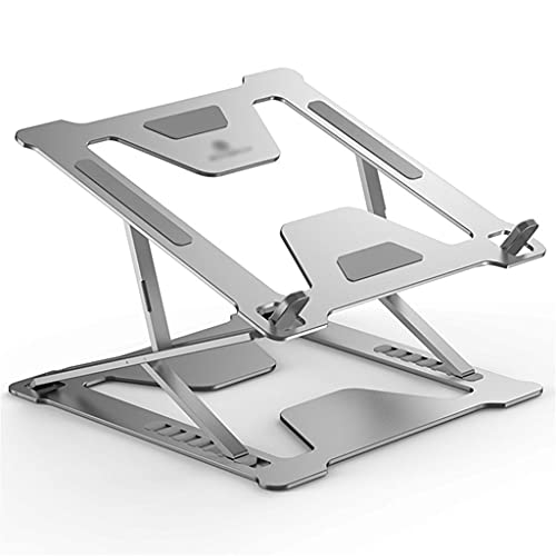 Soporte para portátil Ajustable de 11-17,3 Pulgadas Estante de Aluminio para Monitor de computadora Elevador Hueco de disipación de Calor