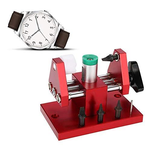 Abridor de Reloj a presión, abridor de Banco de Trabajo con removedor de Cubierta de Reloj, 07115 para reparación de Reloj de Repuesto de batería