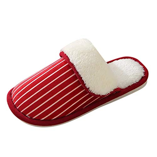 KERULA Winter Baumwolle Pantoffeln Plüsch Wärme Weiche Hausschuhe rutschfeste Slippers für Herren Damen Schuhe