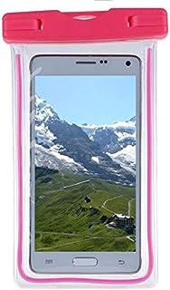 جرابات الهاتف - لجهاز Optimus G Pro 2 F350 D837 D838 جراب هاتف مضيء شامل لهاتف V20 V30 جراب مقاوم للماء (وردي)