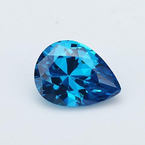 Aquamarine Hand Carved Pear Shape Aquamarine Loose Gemstone-Aquamarine Gemstone-Aquamarine Jewellry Size-8x16 mm-JC-3107