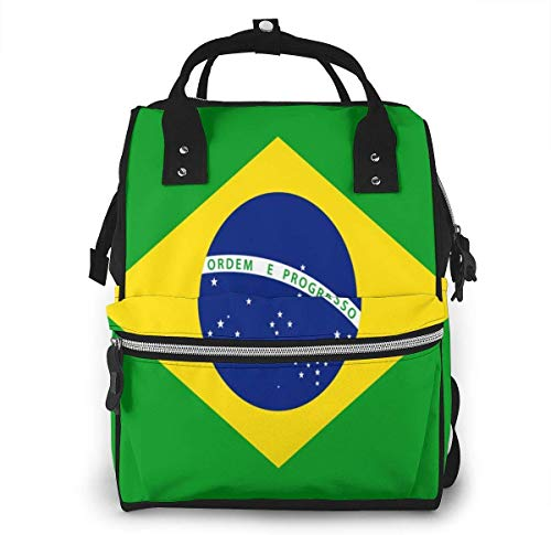 Brazilië Vlag Groene Grote Capaciteit Multifunctionele Mummy Rugzak Grote Capaciteit Landscap Licht Baby Luiertassen