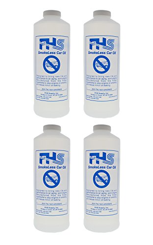 FHS SmokeLess Regular Car Oil, 1 Quart, 4-Pack