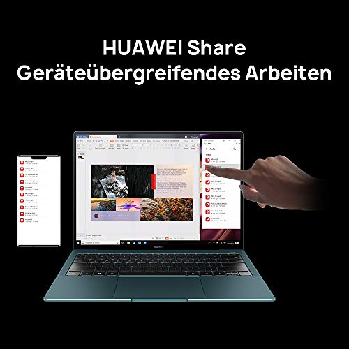 HUAWEI MateBook X Pro 2020 13,9 Zoll 3K-FullView-Touchscreen Notebook, 10th Gen Intel i7, 16GB RAM+ 1 TB SSD, GeForce MX250, versteckbare Kamera, Windows 10 Home-Emerald Green