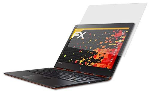 atFolix Panzerfolie kompatibel mit Lenovo Yoga 900S Schutzfolie, entspiegelnde & stoßdämpfende FX Folie (2X)