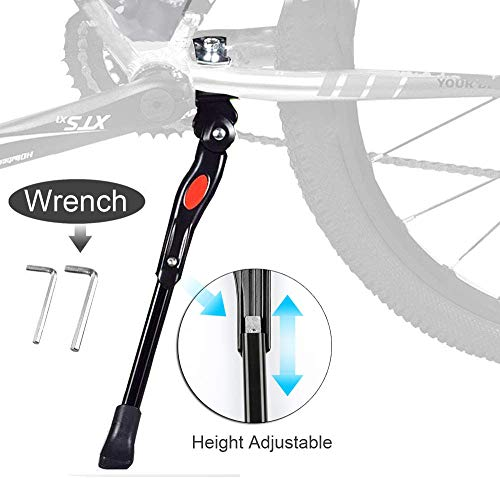 BESTCAN Bicycle Kickstand,Adjustable Aluminum Alloy Bike Kickstand for 20