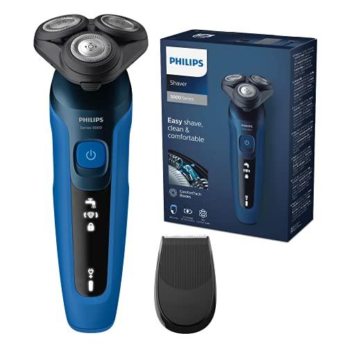 Philips S5110/06 Rasoir Electrique Séries 5000, Lames MultiPrecision, Têtes flexibles dans 5 directions, Tondeuse de Précision SmartClick incluse