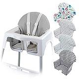 Monsieur Bébé  Housse d'assise pour chaise haute enfant gamme Délice - 5 coloris - Norme NF EN14988