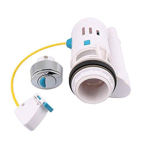 BQLZR para inodoro válvula de cisterna WC pulsador doble para cisterna de ahorro de Draw Válvula de apagado con máxima flexibilidad Fit para 60–75mm agujeros de drenaje