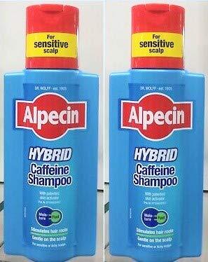 Alpecin Hybrid Caffeine Shampoo, 2x250ml-Moisturises and soothes the scalp, prevents hair loss