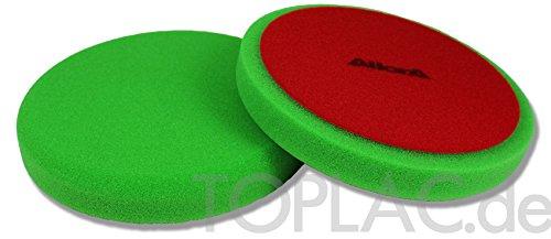 AllorA Polierpad grün glatt Polierschaum D160 mm geeignet für 3M Schleifpaste