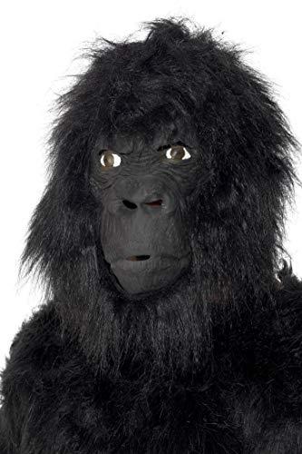 Smiffys-22096 Máscara de Gorila, Grande por Encima de la Cabeza, con Pelo, Color Negro, Tamaño único (Smiffy'S 22096)