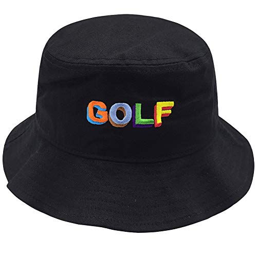 Unisex 100% Cotton Packable Summer Travel Bucket Beach Sun Hat Outdoor Cap Black