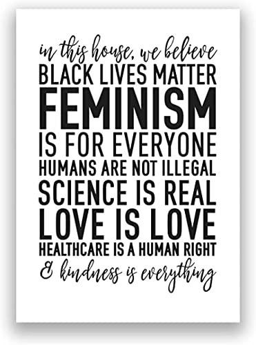 Pintura de pared 70x90 cm feminismo sin marco impresiones de arte en lienzo material de vida negro cita de amor cartel derechos humanos pintura de pared decoración del hogar