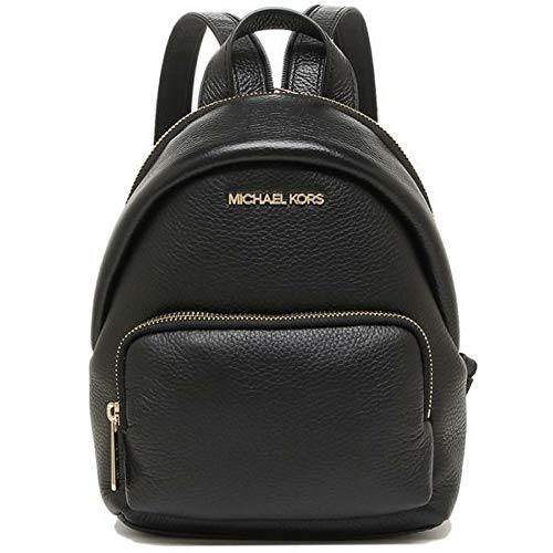 Michael Kors 35T0GERB5L Gold Hardware Erin Small Convertible Women's Backpack (Black)