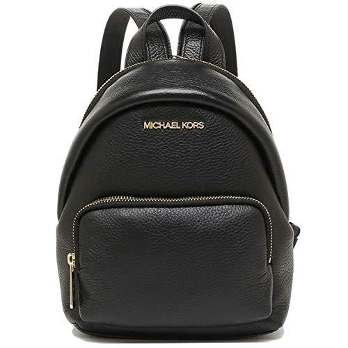 Michael Kors 35T0GERB5L Gold Hardware Erin Small Convertible Women's Backpack (Black)