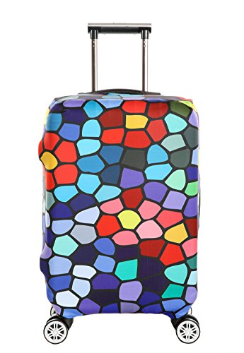 Suitcase Cover,SINOKAL Luggage Cover Elastic Trolley Case Covers Spandex Luggage Protector fits for 30-32 inch Suitcase (Just Sell Cover)