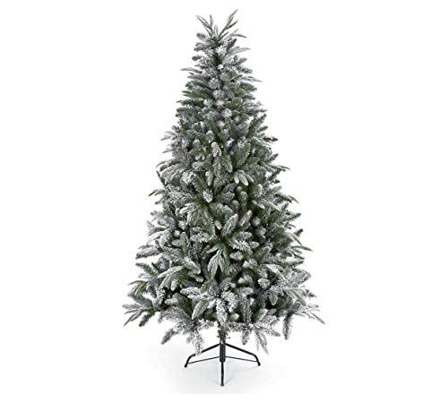 Premier Decorations Flocked Lapland Spruce Christmas Tree - 5ft
