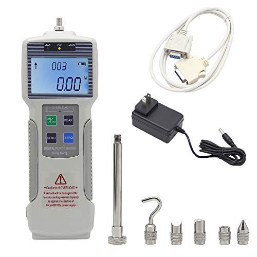 BAOSHISHAN Medidor de fuerza digital con batería recargable (Kgf/Lbf/N)Dinamómetro de interfaz USB RS232 para prueba de destrucción de fuerza de inserción de laboratorio
