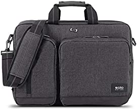 Solo New York Briefcase, Gray, Black, 12.5