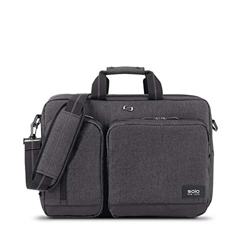 Solo New York Briefcase, Gray, Black, 12.5' x 17' x 5'