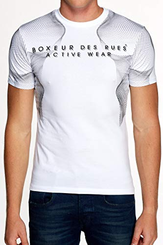 BOXEUR DES RUES - Round Neck T-Shirt with Graphics Print and Coverstitching, Man