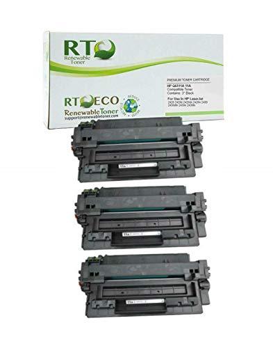 Renewable Toner Compatible Toner Cartridge Replacement for HP 11A Q6511A Laserjet 2420, 2430 (Black, 3-Pack)