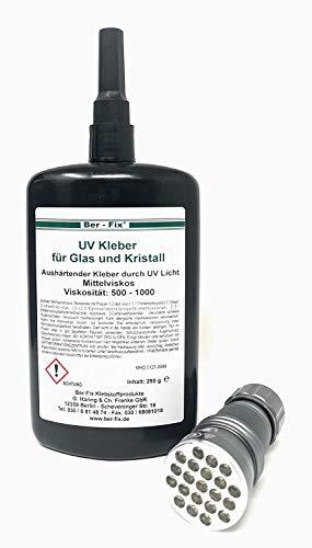 250g UV-lijm gel | UV-lijm met lamp 21er LED | glas met glas | metaal | kunststof |