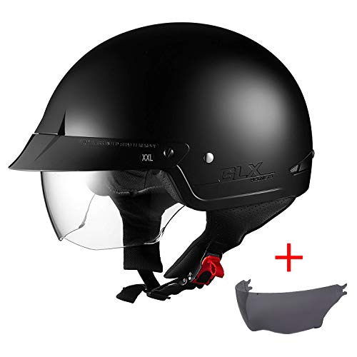 M, L, XL ,White,M Three Color Options Motorcycle Half Helmet DOT Certified Ultra-Thin Quick-Release Beanie Helmet