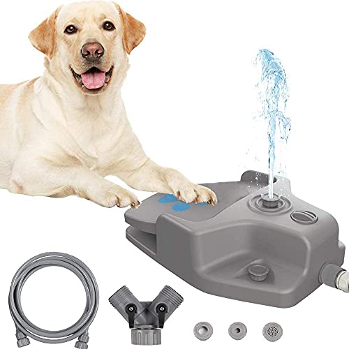 Dog Water Fountain Step on Dog Sprinkler Toy, Automatic Pet Drinking...