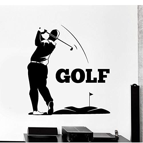 MRQXDP Gratis Verzending Vinyl Muursticker Golfer Golf Club Speler Stickers Mural Sport Decals Home Decor Slaapkamer Woonkamer Verwijderbare Behang 56x61cm Muursticker