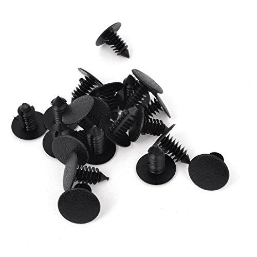plastico remache - SODIAL(R)Coche 8mm Agujero Plastico Negro Remaches...