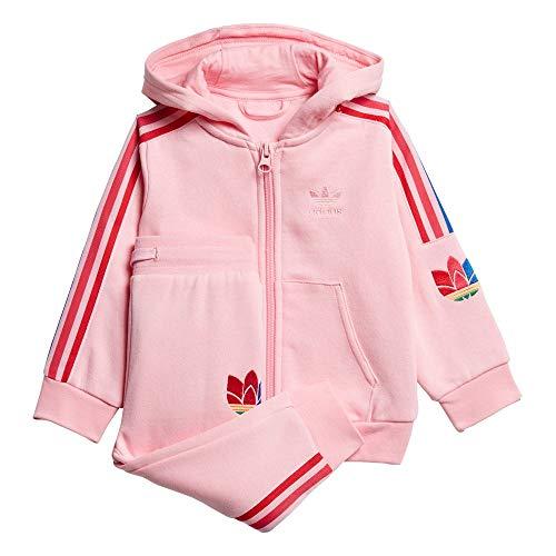 adidas 3D Trefoilhood, Tuta Unisex Bimbi, Light Pink/Multicolor, 2-3Y