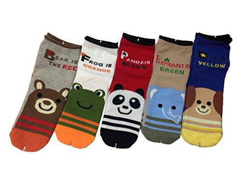 JT-Amigo Pack de 5 Pares de Calcetines de algodón para Niños