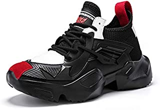 Mr.SHOES 2019 Breathable Men Sneakers All Black Men Shoes Lightweight Comfortable Chunky Youth Men Casual Shoes Mesh Men Shoes Fashion