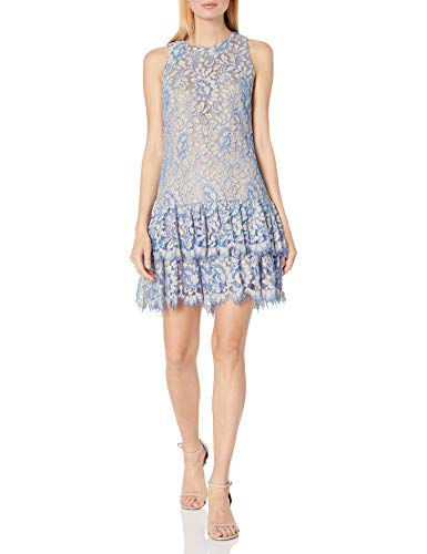 Eliza J Women's Ruffle Shift Dress, Blue, 4