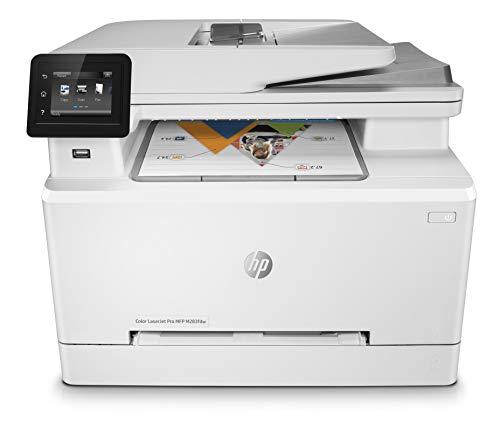 HP Color LaserJet Pro M283fdw, Stampante Wi-Fi Multifunzione, Fino a 21 ppm, fronte/retro automatico, ADF, Display Touchscreen, Bianca