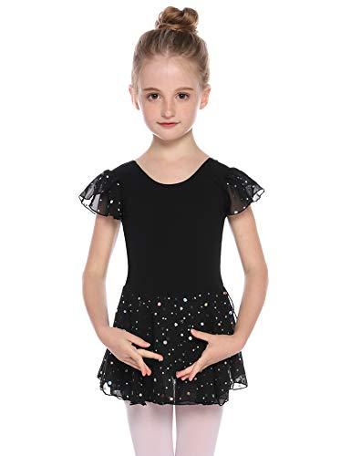 Hawiton Maillot Ballet Danza niña Tutu algodón 5-16 años,