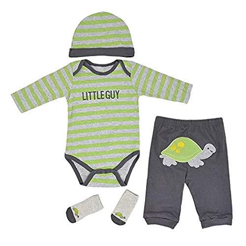ZQDoll Reborn Baby Boy Clothes for 20-22 inch Reborn Doll Newborn Reborn Babies 4 Pieces Sets